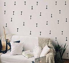 Dekorácie - Nálepky na stenu - Škandinávske šípky 161 ks (Biela) - 10367925_