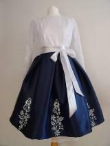 Sukne - Ručne maľovaná sukňa - 10367289_