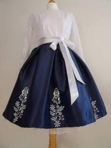 Sukne - Ručne maľovaná sukňa - 10367273_