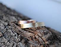 Prstene - Nežné obrúčky - 10373110_