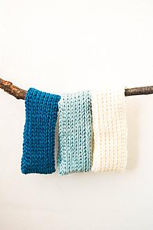 Čiapky - športová čelenka... Wooli... 100% vlna - 10372479_