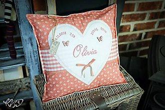 """Úžitkový textil - Vankúšik pre novorodenca """"Olívia"""" - 10373420_"""