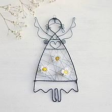 Detské doplnky - anjelik s kvetmi - 10373041_