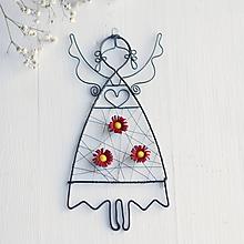 Detské doplnky - anjelik s kvetmi (Bordová) - 10373056_