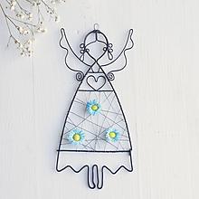 Detské doplnky - anjelik s kvetmi (Tyrkysová) - 10373061_