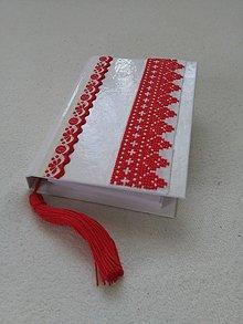 Papiernictvo - Folk (vyšívaný zápisník) - 10371913_