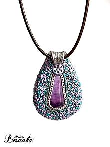 Iné šperky - ♥Ochranný amulet s fluoritom♥ - 10373022_