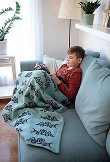 """Úžitkový textil - Deka, """"Tony"""", OEKO-TEX® - Nefritová/Čierna - 10371680_"""