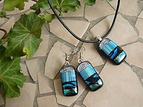 Sady šperkov - Set Silver-blu - 10371846_