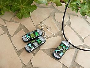 Sady šperkov - Set Silver-green - 10372109_