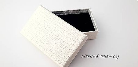 Obalový materiál - Darčeková krabička biela ozdobná - 10373682_