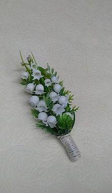 """Pierka - svadobné pierko pre ženícha """"konvalinky"""" - 10372653_"""