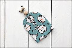 Kľúčenky - Kľúčenka - tyrkysové mačky - 10374487_