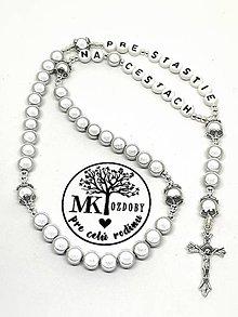 Iné šperky - Žiarivý ruženec do auta - 10374357_