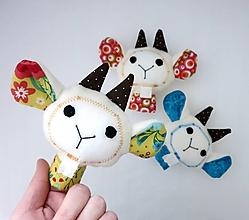 Hračky - Prstová maňuška kozička - na výber - 10373639_