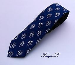 """Doplnky - kravata folk """"modrotlač"""" rôzne varianty (X.) - 10372333_"""