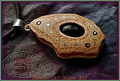 Náhrdelníky - 569. Dřevěný Náhrdelník - LOTOS 6. - 10374523_