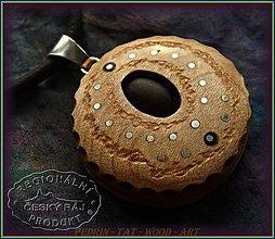 Náhrdelníky - 568. Dřevěný Náhrdelník - LOTOS 5. - 10374519_