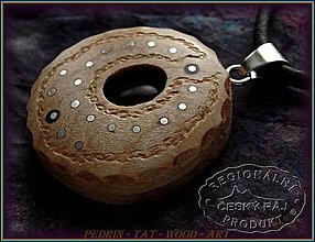 Náhrdelníky - 570. Dřevěný Náhrdelník - LOTOS 7. - 10374532_