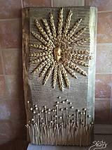 Obrazy - Drevený 3D obraz - Úroda pod slnkom - 10371384_