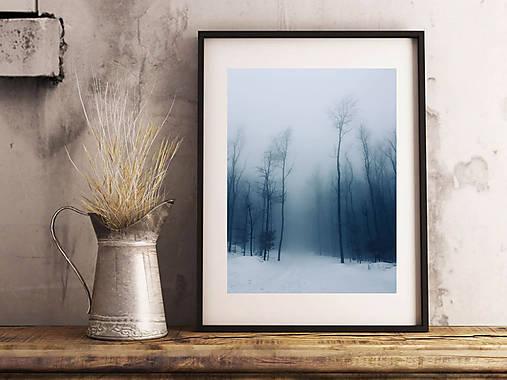 Grafika - Modré stromy - vektorizovaná fotografia - 10372661_