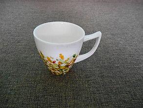 Nádoby - porcelánová šálka maľovaná - 10370832_