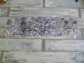 Šály - hodvábny šál - fialový - 10373932_