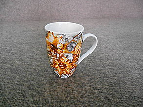 Nádoby - porcelánová šálka maľovaná - 10373971_