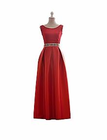 Šaty - Dlhé spoločenské šaty s folklórnym pásom - 10372686  aa8c495c028