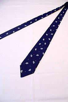 """Doplnky - Pánska kravata """"modrotlač"""" IV. - 10371402_"""