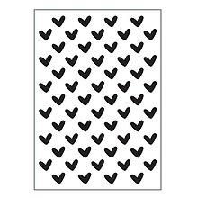 Pomôcky/Nástroje - Embosovacia kapsa - hearts - 10371425_