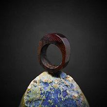 Prstene - Drevený prsteň: Ružové sny - 10371841_