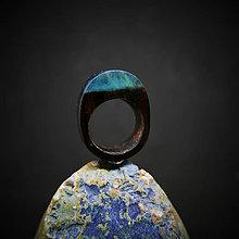 Prstene - Drevený prsteň: Pod ostrovom Sirén - 10371986_