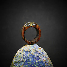 Prstene - Drevený prsteň: Venček - 10372556_