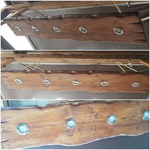 Svietidlá a sviečky - Dreveny luster 180cm - 10371431_