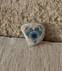 Drobnosti - Tyrkysová láska - Na kameni maľované - 10374180_