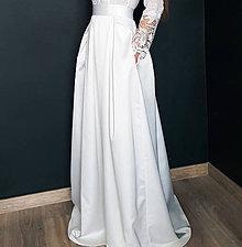 012792f3328d Sukne - Skladaná svadobná sukňa v prírodnej bielej farbe - 10373903