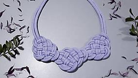 Náhrdelníky - Uzlový náhrdelník - Purpurové snenie - 10370866_