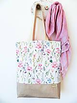 Nákupné tašky - taška Lúčne kvety - 10371924_
