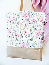 Nákupné tašky - taška Lúčne kvety - 10371925_