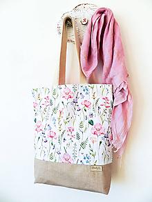 Nákupné tašky - taška Lúčne kvety - 10371923_
