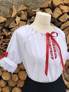 Košele - Folklórna (ľudová) blúzka Katka - 10371659_