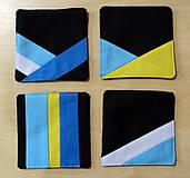 Úžitkový textil - Podtácky z látky - 10374382_