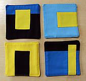 Úžitkový textil - Podtácky z látky - 10374383_