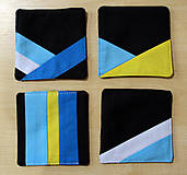 Úžitkový textil - Podtácky z látky - 10374399_