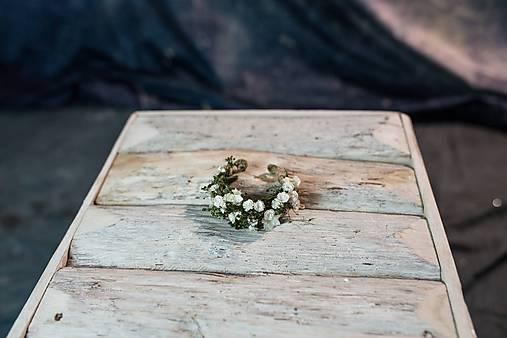 """Kvetinový náramok """"biely závoj"""""""