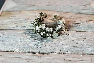 """Náramky - Kvetinový náramok """"biely závoj"""" - 10371614_"""