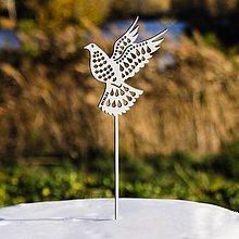 Dekorácie - Zapichovačka do torty - holubička - 10372569_