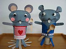 Bábiky - Maškrtníci - labužníci (Myšiak Mišo a myška Miška) - 10373907_