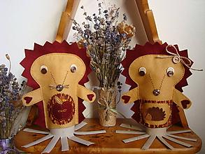 Bábiky - V radostnom očakávaní (Ježko Marek a ježka Mária) - 10374475_